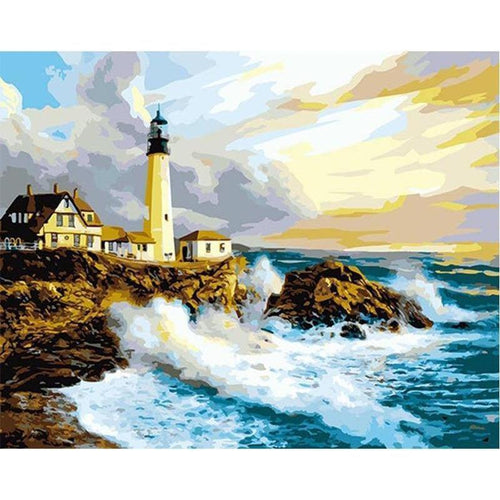 Lighthouse on the Coast - Paint by Numbers Kit