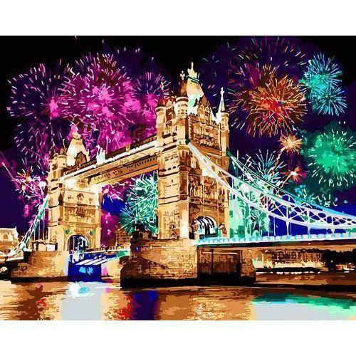 DIY Paint by Number kit for Adults on Canvas-London Bridge-40x50cm (16x20inches)