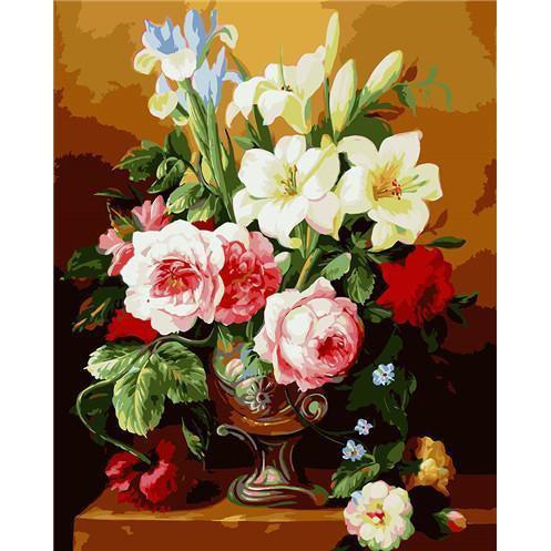 DIY Paint by Number kit for Adults on Canvas-Luscious Vase-40x50cm (16x20inches)