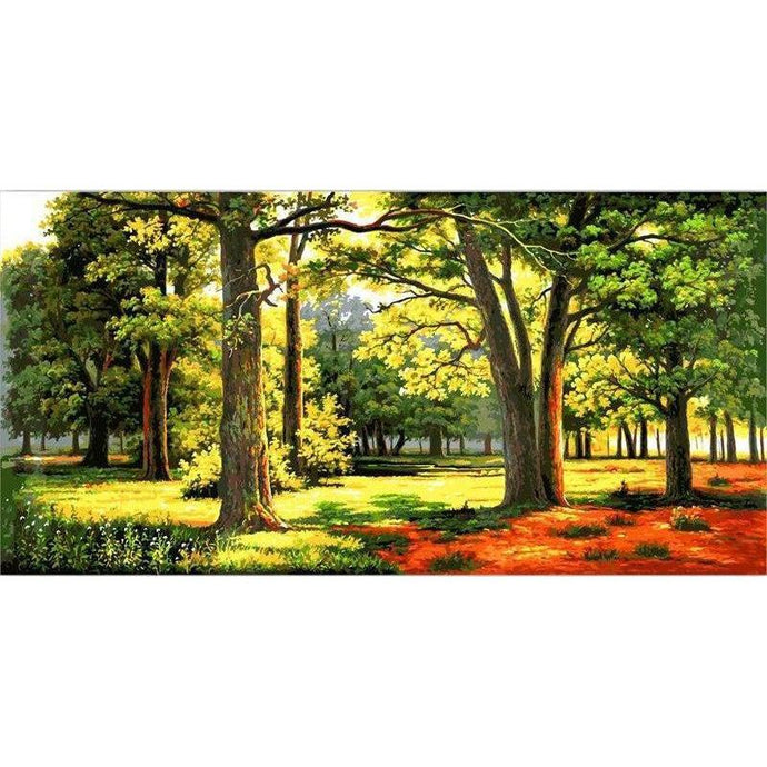 DIY Paint by Number kit for Adults on Canvas-Lush Forrest [EXTRA Large Print]-50x100cm (20x40inches)