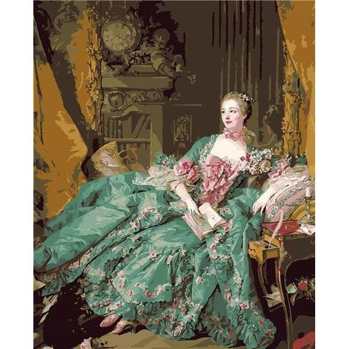 DIY Paint by Number kit for Adults on Canvas-Madame de Pompadour - Francois Boucher - 1756-Painting & Calligraphy