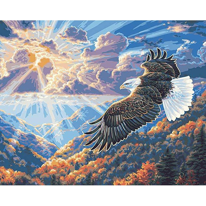 DIY Paint by Number kit for Adults on Canvas-Majestic Eagle-40x50cm (16x20inches)