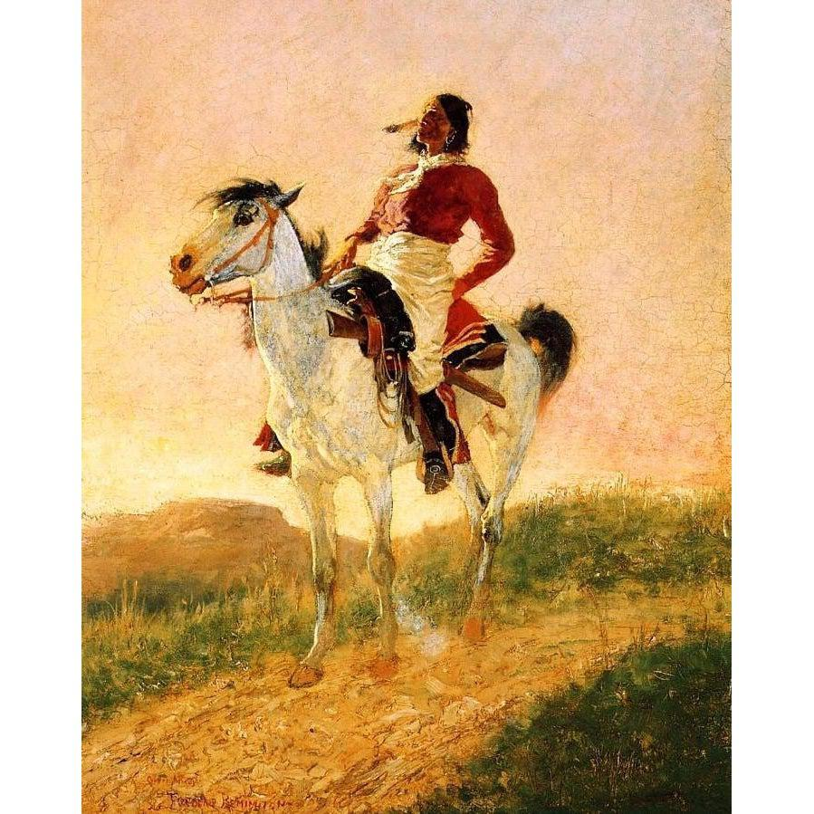 DIY Paint by Number kit for Adults on Canvas-Modern Comanche - Frederic Sackrider Remington - 1890-Home