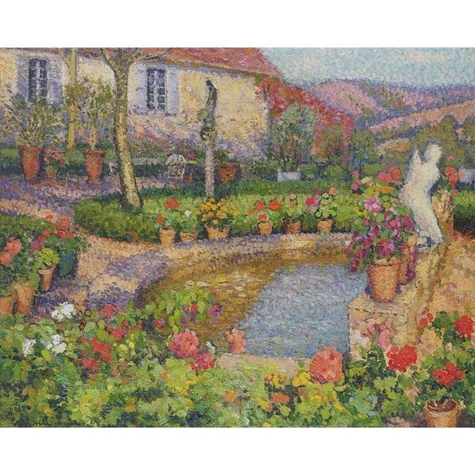 DIY Paint by Number kit for Adults on Canvas-My House - Henri Martin-Home