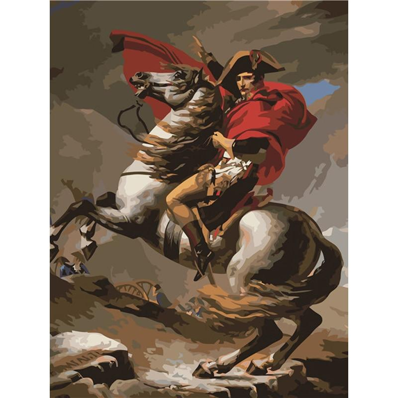 Napoleon Crossing The Alps - Jacques Louis David - 1801 - Paint by Numbers Kit
