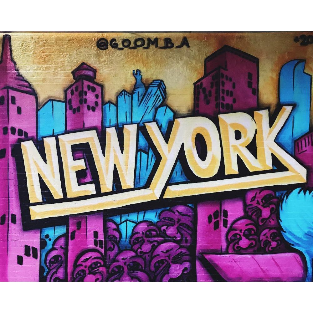 DIY Paint by Number kit for Adults on Canvas-New York Wall Art-Clean PBN