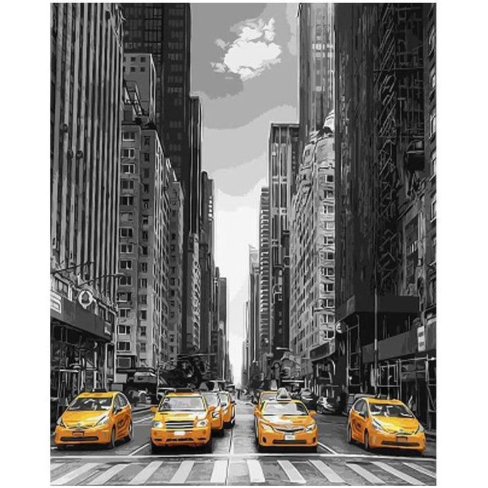 New York Yellow Taxis - Paint by Numbers Kit