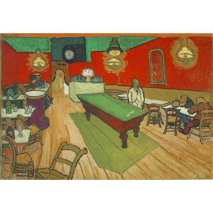 DIY Paint by Number kit for Adults on Canvas-Night Cafe in Arles - Van Gogh - 1888-