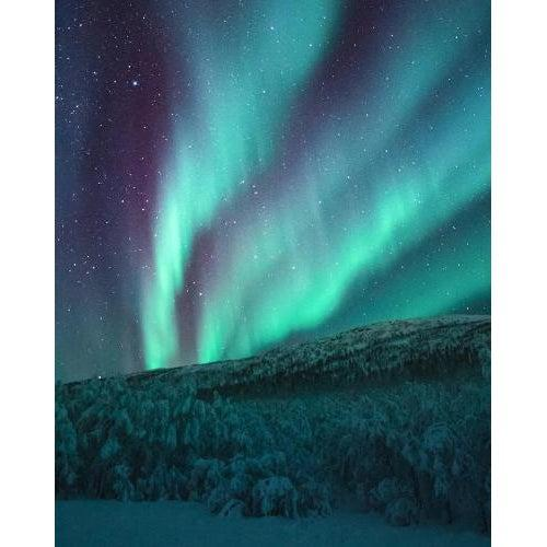 DIY Paint by Number kit for Adults on Canvas-Northern Lights-Clean PBN