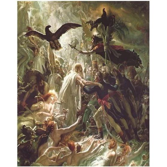 DIY Paint by Number kit for Adults on Canvas-Ossian receiving the Ghosts of the French Heroes - Girodet de Roucy-Trioson-Painting & Calligraphy