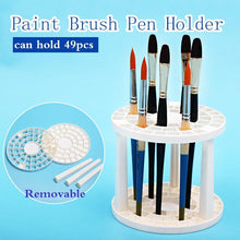 DIY Paint by Number kit for Adults on Canvas-Paint Brush Pen Holder 49 Holes-