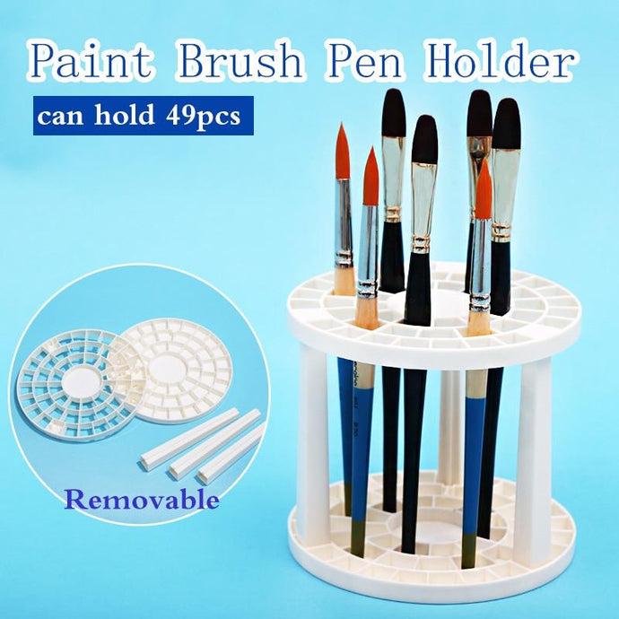 Paint Brush Pen Holder 49 Holes - Paint by Numbers Kit