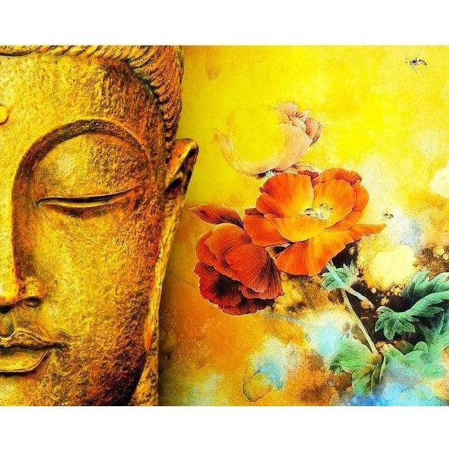 DIY Paint by Number kit for Adults on Canvas-Peaceful Buddha-