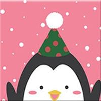 DIY Paint by Number kit for Adults on Canvas-Penguin Pal - [Tiny Print]-20x20cm (8x8inches)