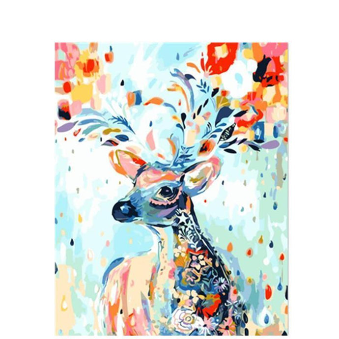 DIY Paint by Number kit for Adults on Canvas-Pigmy Deer-40x50cm (16x20inches)