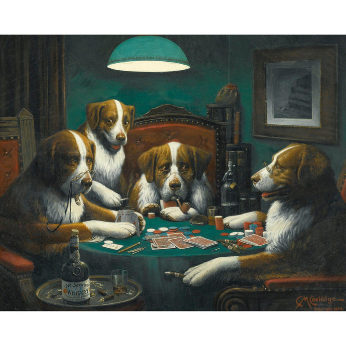 DIY Paint by Number kit for Adults on Canvas-Poker Game - Cassius Marcellus Coolidge - 1894-Paint By Number