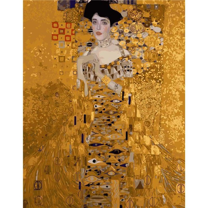 DIY Paint by Number kit for Adults on Canvas-Portrait of Adele Bloch-Bauer - Gustav Klimt-Clean PBN