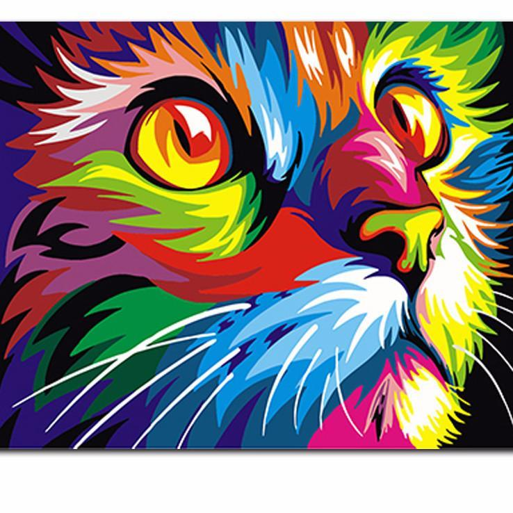 Psychedelic Cat Limited Print My Paint By Numbers