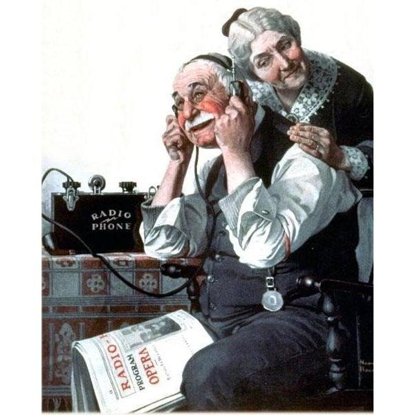 DIY Paint by Number kit for Adults on Canvas-Radio Phone - Norman Rockwell - 1922-Home
