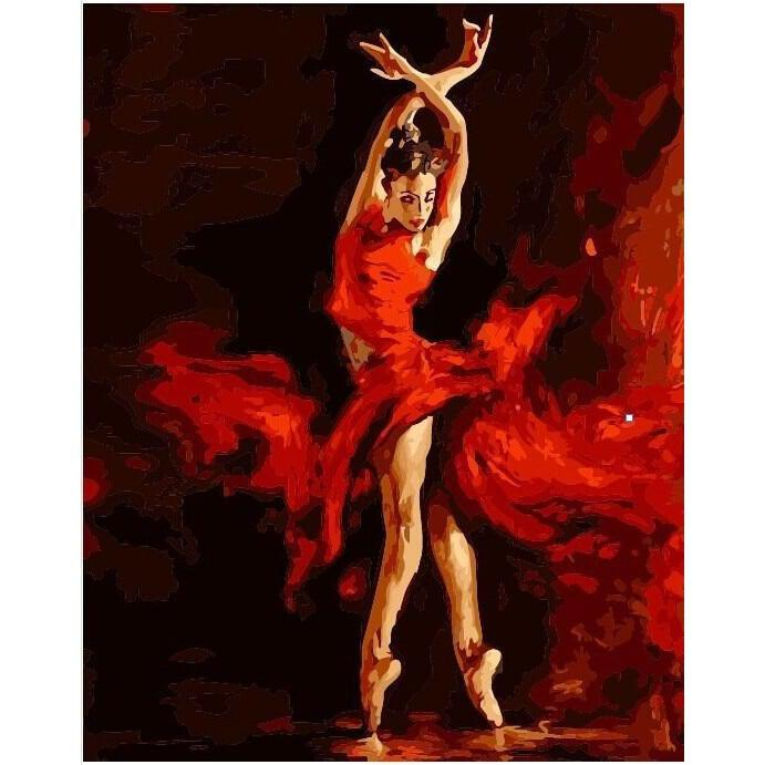 Red Ballet Dancer - Paint by Numbers Kit