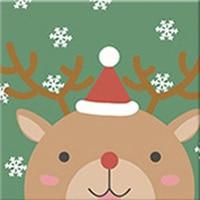 DIY Paint by Number kit for Adults on Canvas-Reindeer Friend - [Tiny Print]-20x20cm (8x8inches)