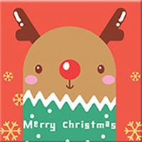 DIY Paint by Number kit for Adults on Canvas-Reindeer Pal - [Tiny Print]-20x20cm (8x8inches)