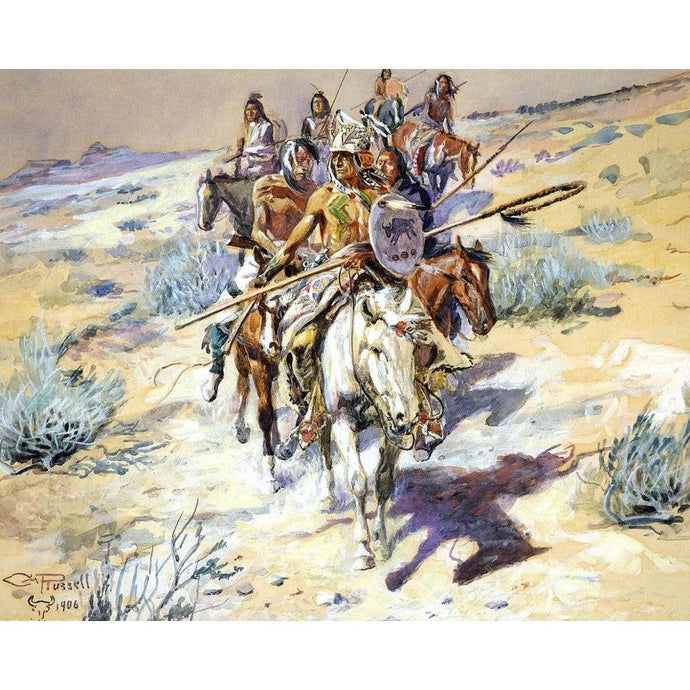 DIY Paint by Number kit for Adults on Canvas-Return of the Warriors - Charles Marion Russell - 1906-Home