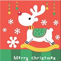 DIY Paint by Number kit for Adults on Canvas-Rocking Reindeer - [Tiny Print]-20x20cm (8x8inches)