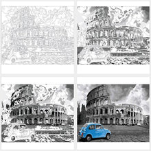 DIY Paint by Number kit for Adults on Canvas-Roman Colosseum Italy-40x50cm (16x20inches)