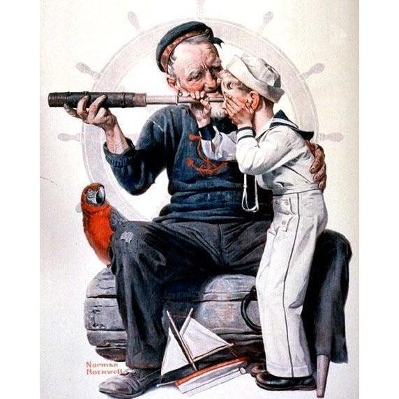 DIY Paint by Number kit for Adults on Canvas-Sailors - Norman Rockwell - 1922-Home