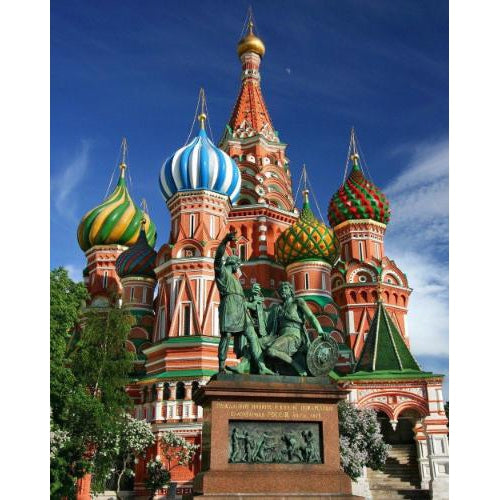 DIY Paint by Number kit for Adults on Canvas-Saint Basil's Cathedral-