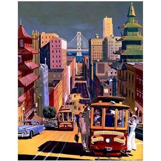 San Francisco Trolly - Paint by Numbers Kit