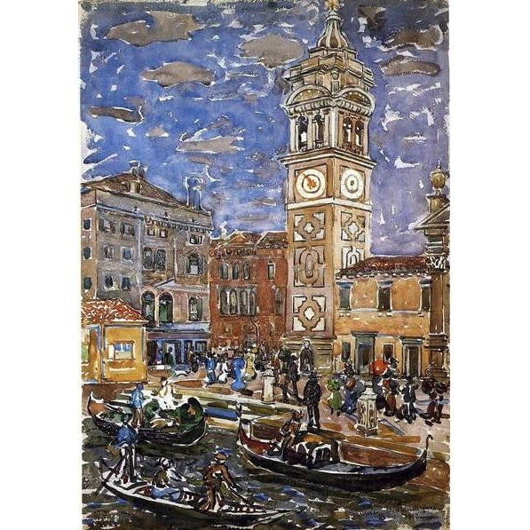 DIY Paint by Number kit for Adults on Canvas-SanMaria Formosa, Venice - Maurice Prendergast - 1912-Home