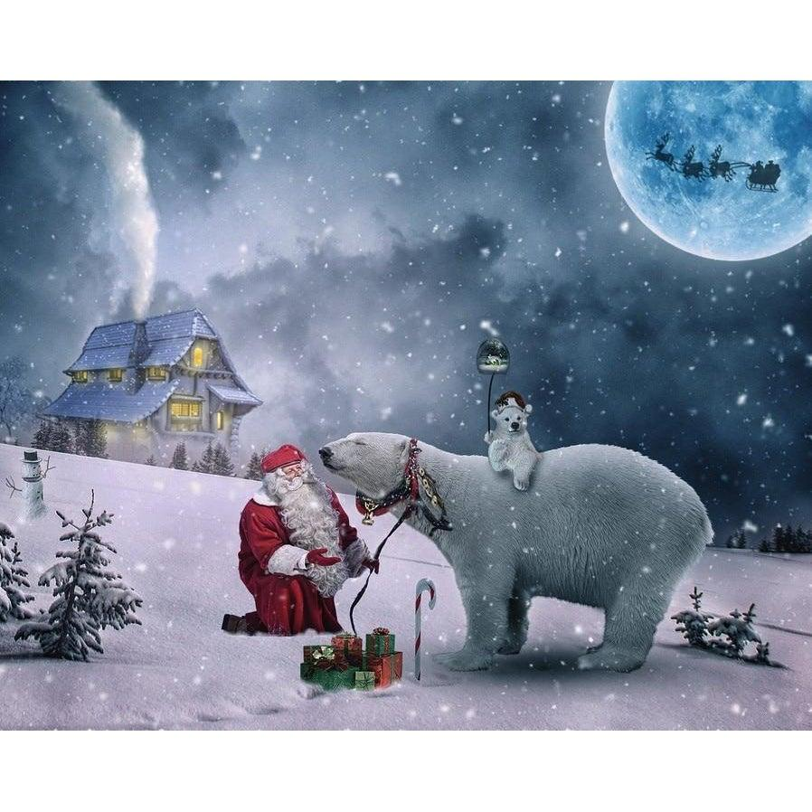 Santa and his Polar Bears - Paint by Numbers Kit