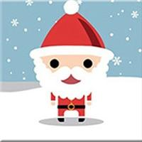 DIY Paint by Number kit for Adults on Canvas-Santa Pal - [Tiny Print]-20x20cm (8x8inches)