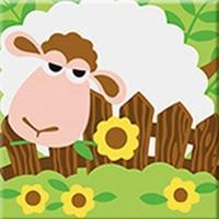 DIY Paint by Number kit for Adults on Canvas-Sheep Pal - [Tiny Print]-Painting & Calligraphy