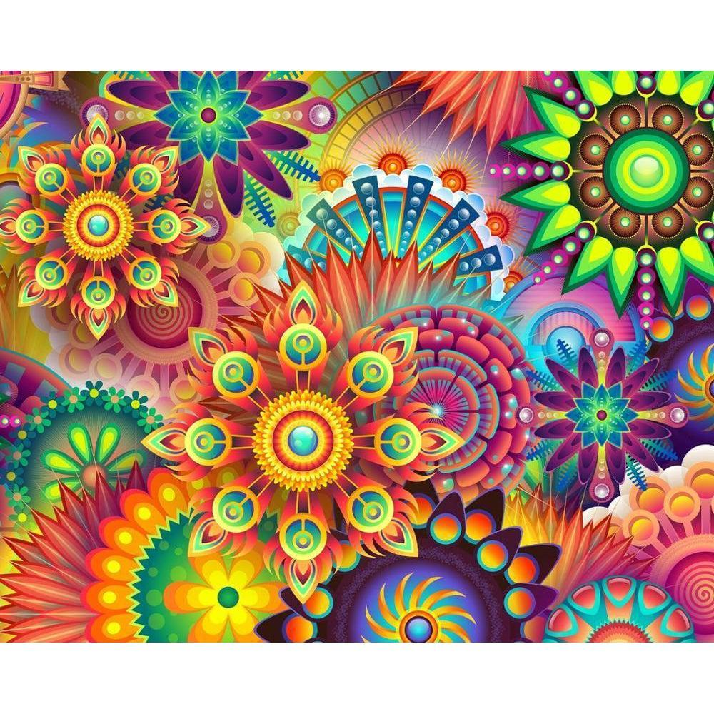 DIY Paint by Number kit for Adults on Canvas-[Ships from USA] Kaleidoscope Eyes-Paint By Number