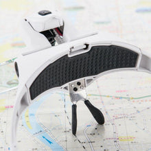 [Ships from USA] Magnifying Glasses LED Lighted Headband Magnifier Lamp - Paint by Numbers Kit