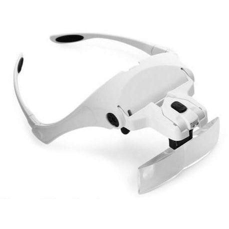 Ships From Usa Magnifying Glasses Led Lighted Headband