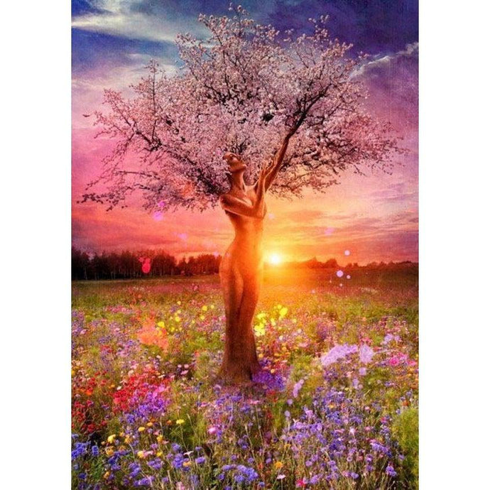 DIY Paint by Number kit for Adults on Canvas-[Ships from USA] Mother Nature Tree of Life [LIMITED PRINT]-40x50cm (16x20inches)