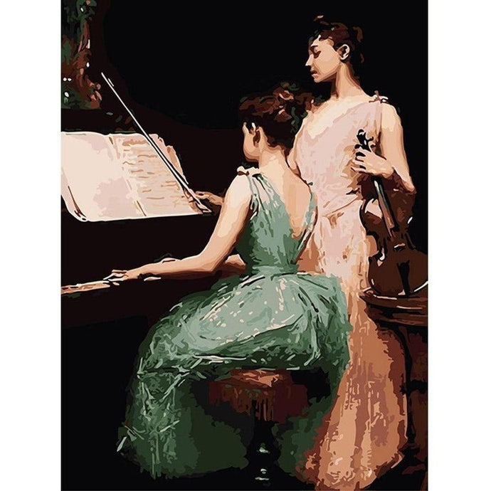 DIY Paint by Number kit for Adults on Canvas-[Ships from USA] The Sonata - Irving Ramsey Wiles 1889-Clean PBN