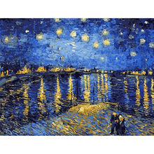 DIY Paint by Number kit for Adults on Canvas-[Ships from USA] The Starry Sky - Van Gogh-Clean PBN