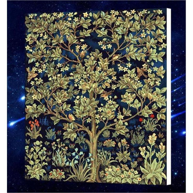 DIY Paint by Number kit for Adults on Canvas-[Ships from USA] Tree of Life - William Morris [LIMITED PRINT]-Clean PBN