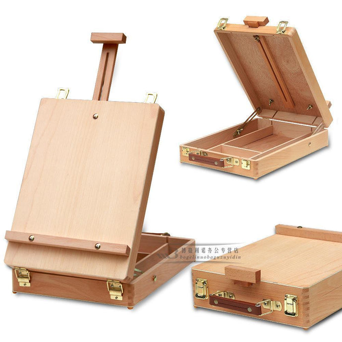 [Ships from USA] Wooden Desktop Easel & Storage Case - Paint by Numbers Kit