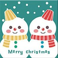 DIY Paint by Number kit for Adults on Canvas-Snowman Siblings - [Tiny Print]-20x20cm (8x8inches)