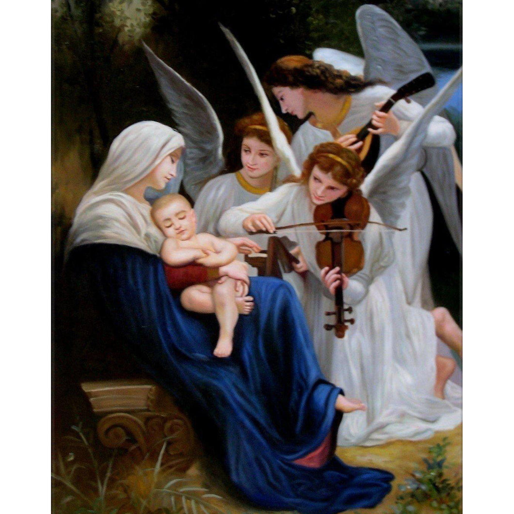 DIY Paint by Number kit for Adults on Canvas-Song of the Angels - William Adolphe Bouguereau - 1881-Painting & Calligraphy