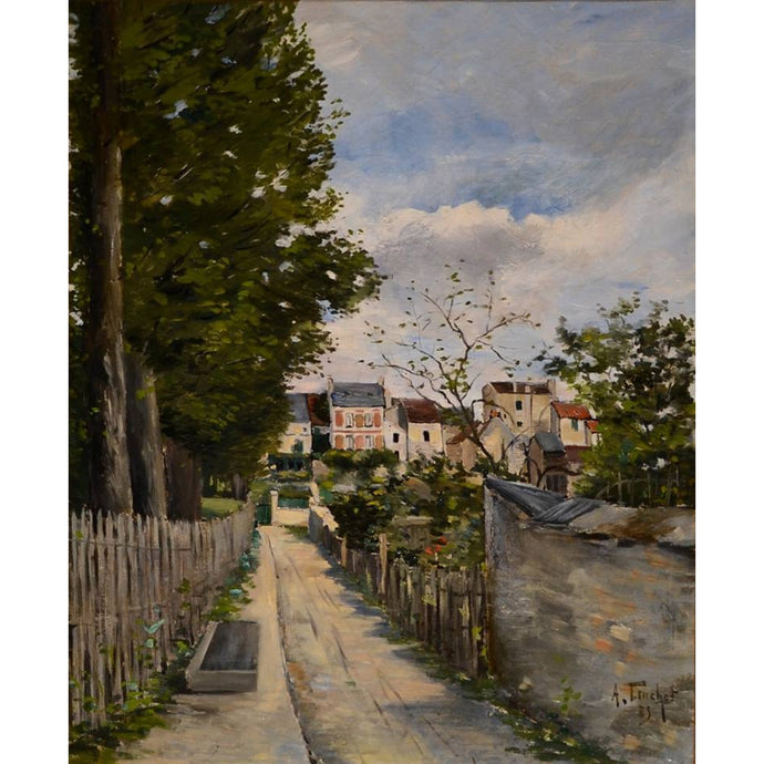 DIY Paint by Number kit for Adults on Canvas-Spring Day at Montmartre - Louis Abel-Truchet - 1883-Clean PBN