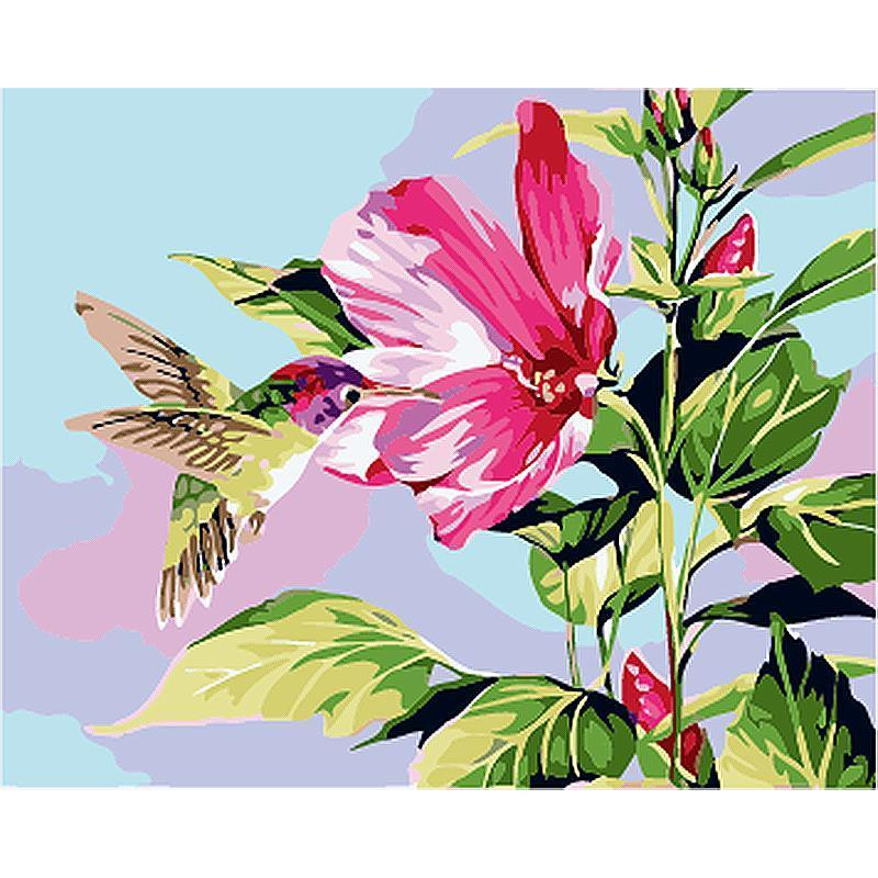 Spring Humming Bird - Paint by Numbers Kit