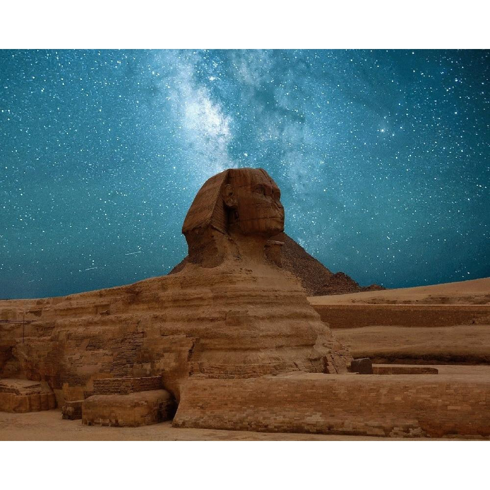 DIY Paint by Number kit for Adults on Canvas-Starry Sphinx-