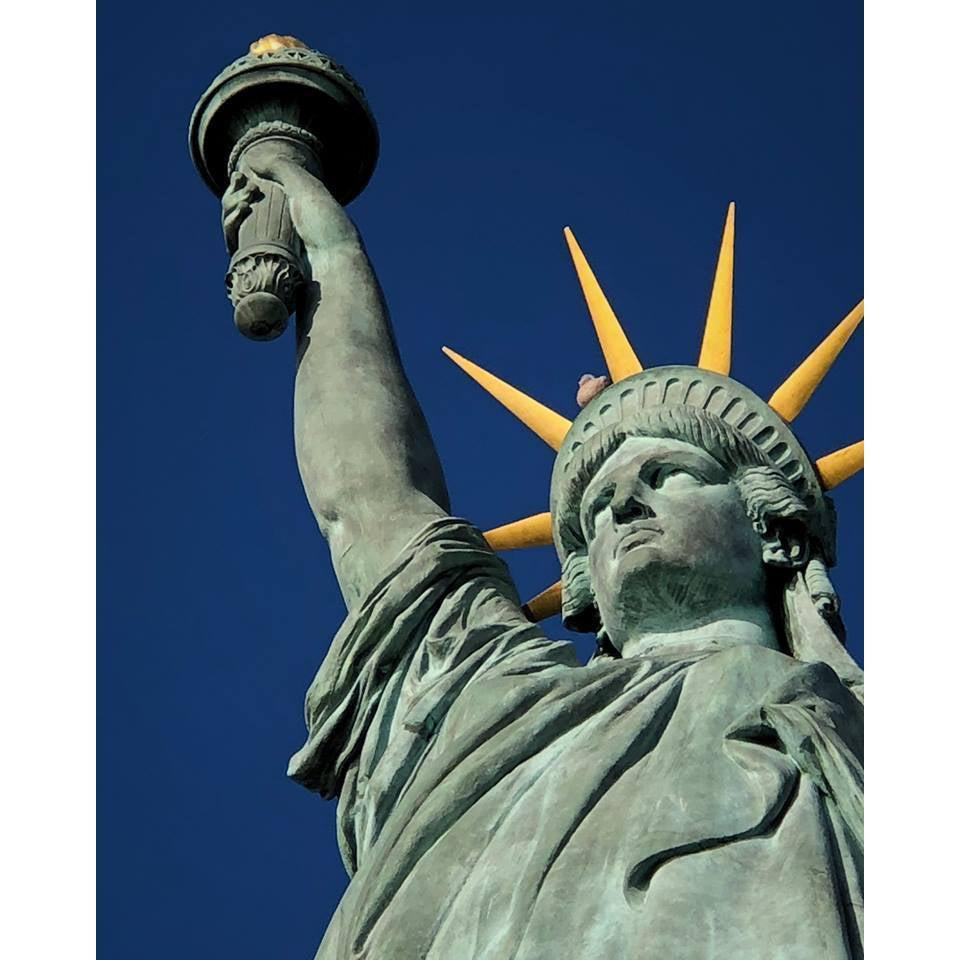 DIY Paint by Number kit for Adults on Canvas-Statue of Liberty New York-Clean PBN